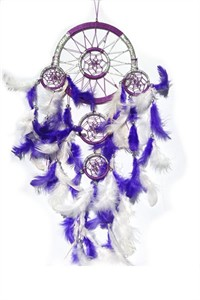 Purple and Silver Dream Catcher (16.5 cm)