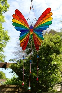 Rainbow Butterfly Suncatcher, large