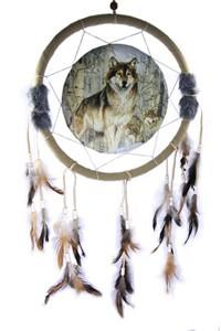Dreamcatcher with Wolf