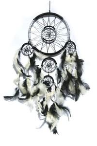 Black and Silver Dream Catcher (16.5 cm)