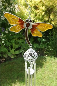 Yellow Dragonfly Wind Chime