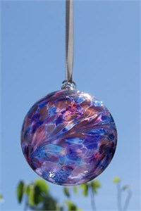 Blue-Pink Glass Ball, 8 cm