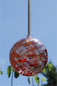 Ruby Glass Ball, 10 cm