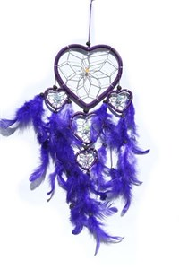 Multi-Heart Dream Catcher, Purple