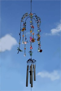 Flowers and Butterflies Wind Chime