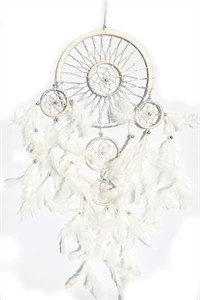 White and Silver Dream Catcher (16.5 cm)