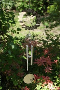 Cosmo Spinner Wind Chime with Dragonfly