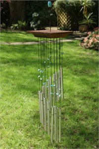 Woodstock Turquoise Mystic Spiral Wind Chime