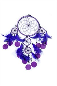 Dream Catcher with Capiz, purple (16 cm)