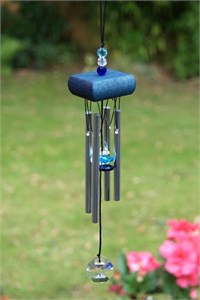 Mini Chime with Crystals, blue