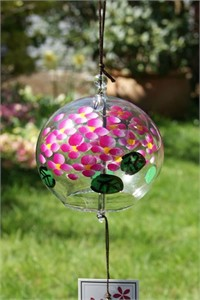 Pink Hortensia Wind Chime