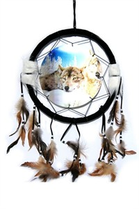 3D Dream Catcher with Wolves
