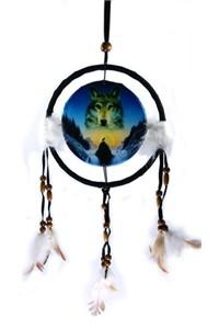 Cosmic Wolf Dreamcatcher