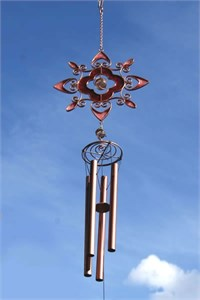 Ruby Bloom Wind Chime