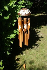 Frangipani Bamboo Wind Chime, medium