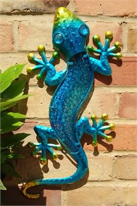 Blue Glass Gecko, 44 cm