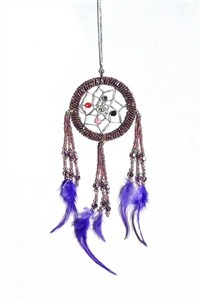 Beaded Dream Catcher, metallic (6.25 cm)