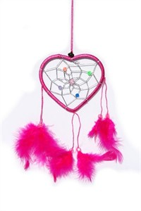 Little Heart Dream Catcher, pink