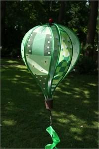 Standard Hot Air Balloon Spinner, Green Patchwork