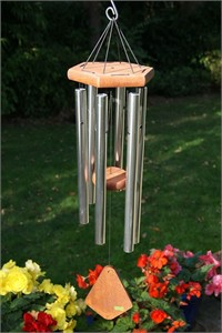 Nature's Melody Wind Chime, 28 inch silver
