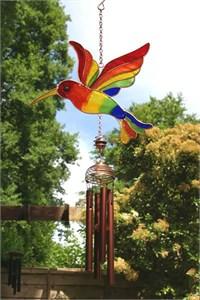 Rainbow Hummingbird Wind Chime