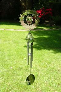 Cosmo Spinner Wind Chime with Owl