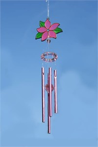 Pink Flower Top Wind Chime