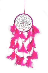 Metallic Hoop Dream Catcher, pink (11.5 cm)