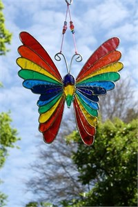 Rainbow Butterfly Suncatcher, medium
