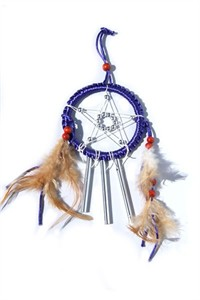 Star Dreamcatcher with Chimes, purple