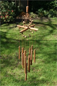 Beaded Bamboo Wind Chime
