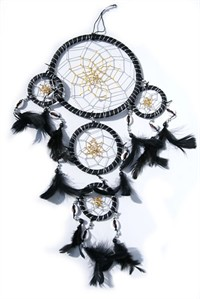 Dream Catcher with Shells, black  (15 cm)