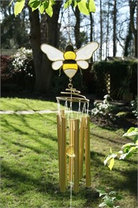 Golden Honey Bee Wind Chime
