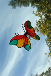 Butterfly Suncatcher, orange