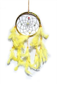 Metallic Hoop Dream Catcher, yellow (11.5 cm)
