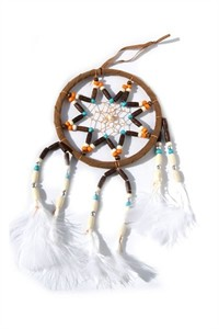 Multi-beaded Dream Catcher, tan
