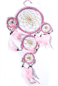 Dream Catcher with Shells, pink (15 cm)