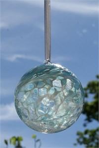 Pastel Blue Glass Ball, 10 cm