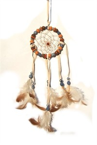 Dream Catcher with Carved  Beads