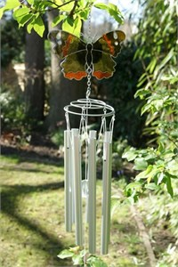 British Butterfly Wind Chimes:  Red Admiral