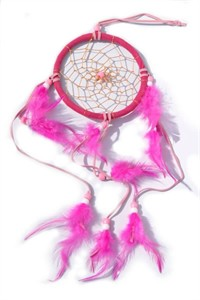 3 Strands Dream Catcher, pink