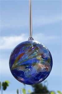 Blue Glass Ball, 10 cm