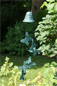 Woodstock Bell and Butterflies Wind Chime