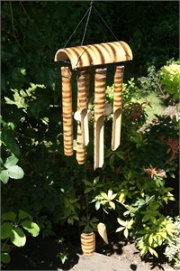 Tiger Cub Bamboo Wind Chime