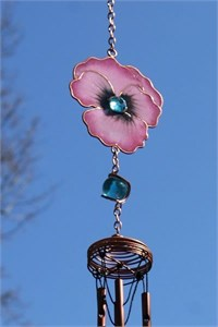 Pink Pansy Wind Chime, small