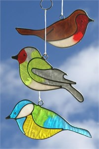 British Bird Suncatchers, set of 3