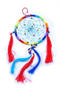 Rainbow Dream Catcher, large (16.5 cm)