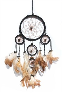 Five Hoops Dream Catcher, black (11 cm)