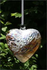 Gold Glass Heart, 12 cm