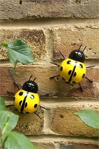 Yellow Ladybirds Wall Art (2)
